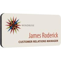 Personalised Plastic Name Badges, spot colour print