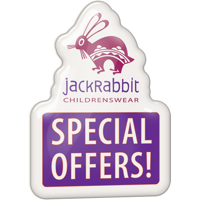 Clear Dome Shaped Plastic Promo Badges up to 70X70mm