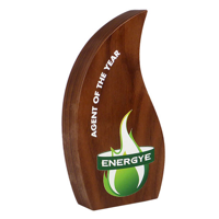 Real Wood Block Award, wood only, basic standard shapes110x200mm