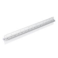 Aluminium triangle rule - 30cm, silver