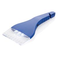Ice scraper with belt cutter and window hammer, blue
