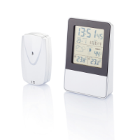 Indoor/outdoor weather station, silver