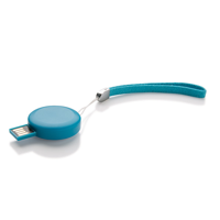 Round USB Stick - 8 GB, blue