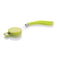 Round USB Stick - 8 GB, green