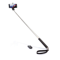 Selfie shutter with monopod, black