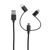 MFi licensed 3-in-1 cable