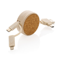 Cork and Wheat 6-in-1 retractable cable