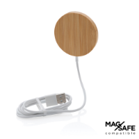 10W bamboo magnetic wireless charger