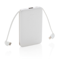 5.000 mAh Pocket Powerbank with integrated cables