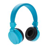 Foldable bluetooth headphone, blue