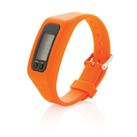 Pedometer bracelet, orange
