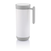 Clik leak proof travel mug, white/grey