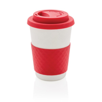 ECO Bamboo fibre coffee cup, red