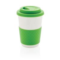 ECO Bamboo fibre coffee cup, green