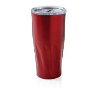 Copper vacuum insulated tumbler, red