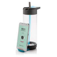 Tritan Bottle with stand, blue