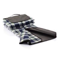 Tartan picnic blanket, blue