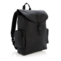 """15"""" Laptop backpack with buckle, black"""