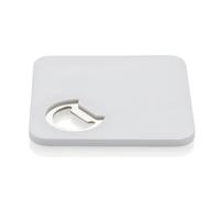 2-in-1 coaster & opener, white