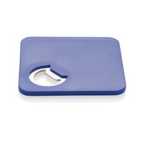2-in-1 coaster & opener, blue