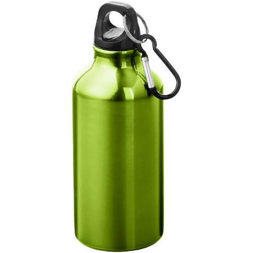 Oregon 400 ml sport bottle with carabiner in white-solid