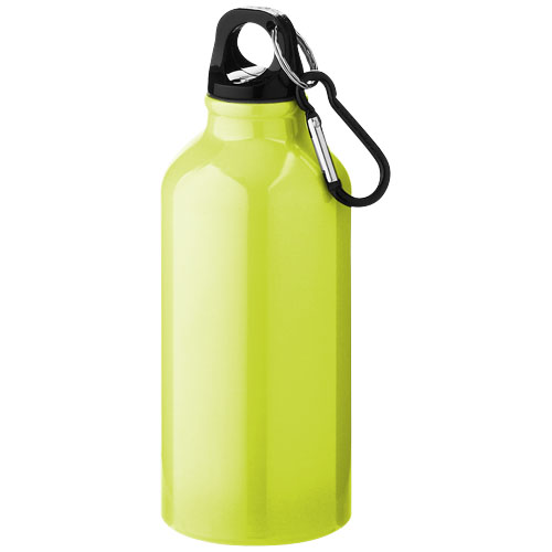 Oregon drinking bottle with carabiner in neon-yellow