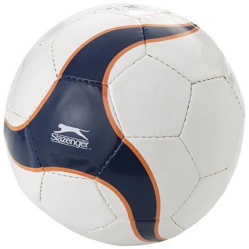 Laporteria size 5 football in white-solid-and-navy