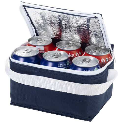 Spectrum 6-can non-woven cooler bag in navy