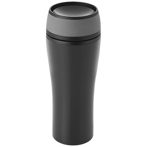 Curve 400 ml leak-proof insulated tumbler in black-solid-and-grey