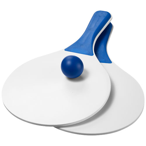 Matira beach paddle ball set in white-solid-and-blue