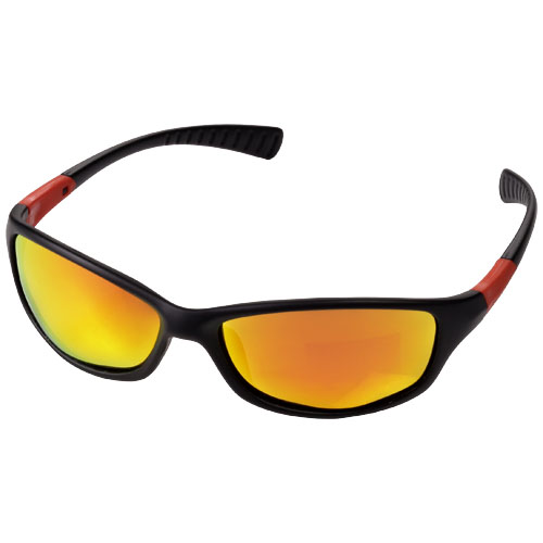 Robson sunglasses in black-solid-and-orange
