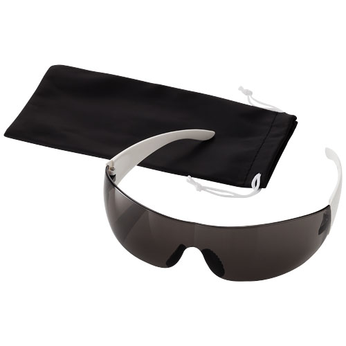 Sport sunglasses in black-solid-and-white-solid