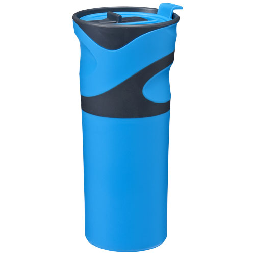 Wave insulated tumbler in blue