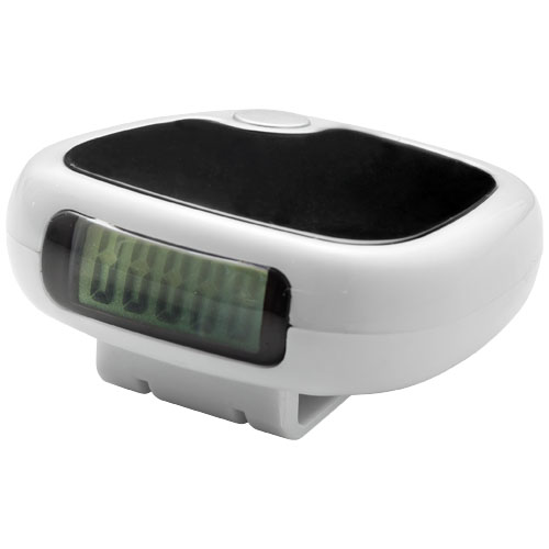 TrackFast Pedometer in white-solid-and-black-solid