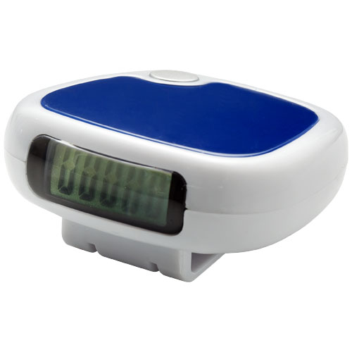 TrackFast Pedometer in white-solid-and-blue