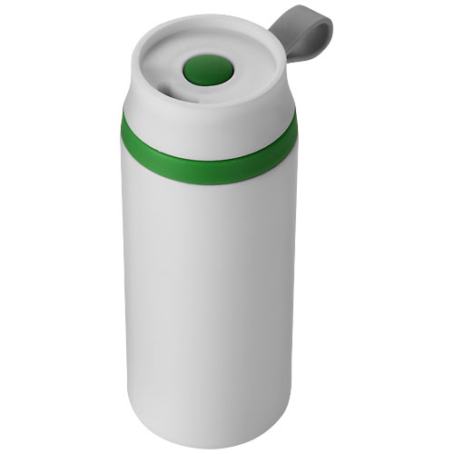 Flow 350 ml foam insulated tumbler in white-solid-and-green