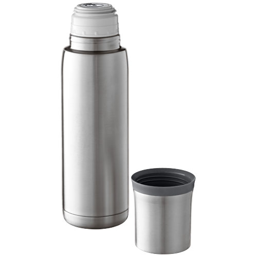 Flow vacuum insulated flask in silver