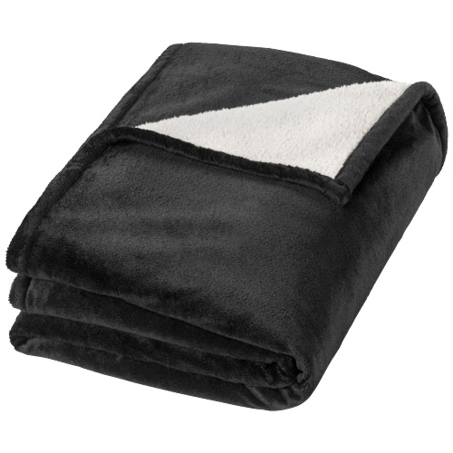 Hampton soft velours with sherpa plaid blanket in