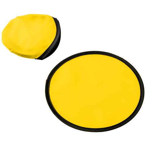 Florida frisbee with pouch in yellow