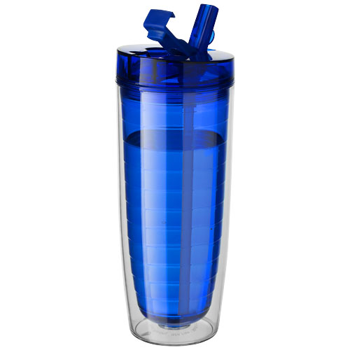 Sipper Insulated Tumbler in transparent-blue