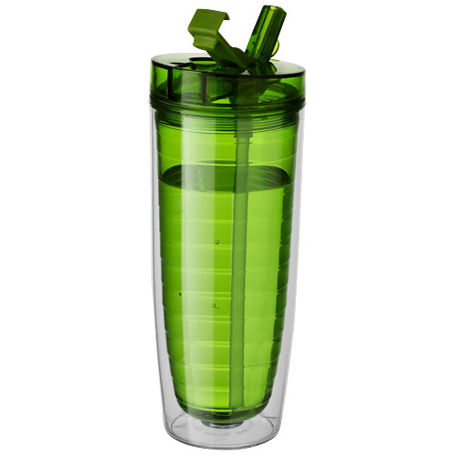 Sipper Insulated Tumbler in transparent-green
