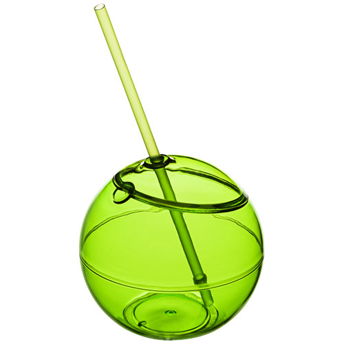 Fiesta 580 ml beverage ball with straw in lime