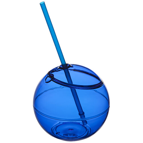 Fiesta 580 ml beverage ball with straw in royal-blue