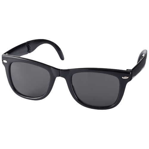 Sun Ray foldable sunglasses in black-solid
