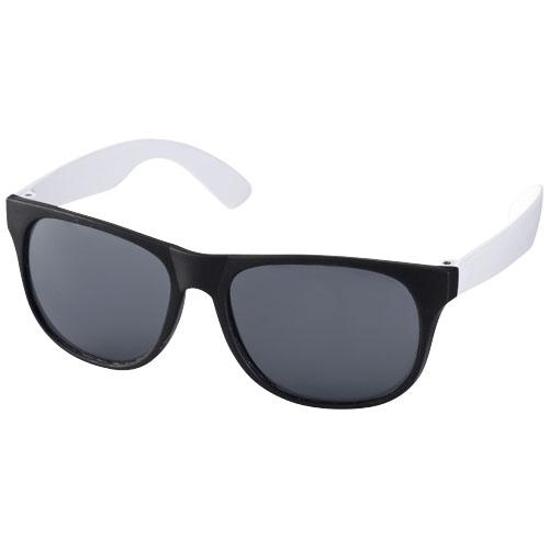 Retro duo-tone sunglasses in black-solid-and-white-solid