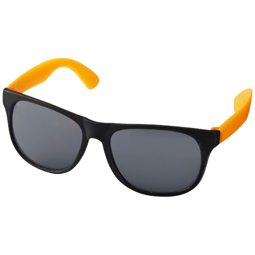 Retro duo-tone sunglasses in neon-orange