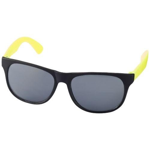 Retro duo-tone sunglasses in neon-yellow