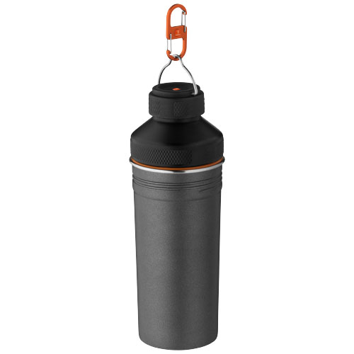 Rambler non leaking bottle in grey-and-black-solid