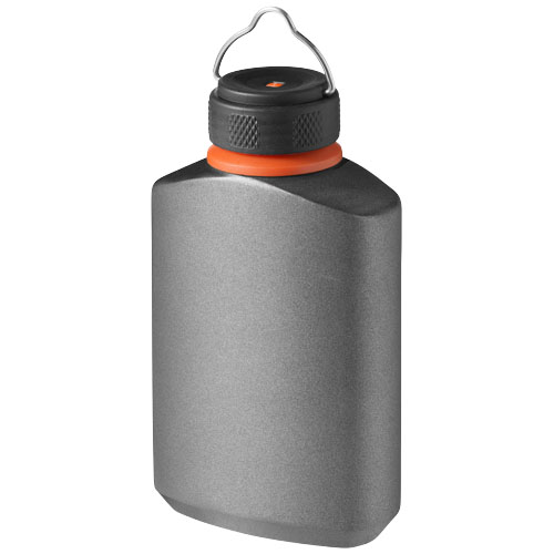 Warden non leaking hip flask in grey-and-black-solid