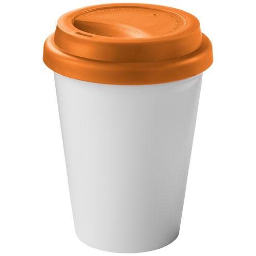 Zamzam 330 ml insulated tumbler in white-solid-and-orange